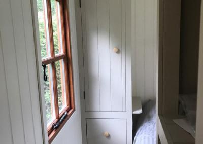 Storage inside hut