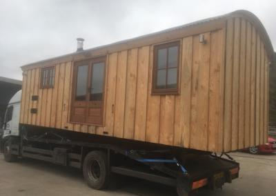 Cabin leaving for delivery