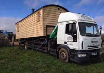 Cabin being delivered