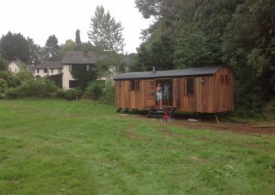 Hut in a garden