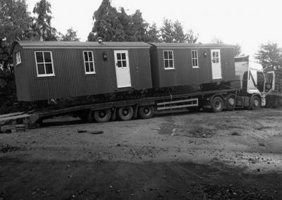 Delivering new huts