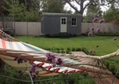 Hut in a back garden